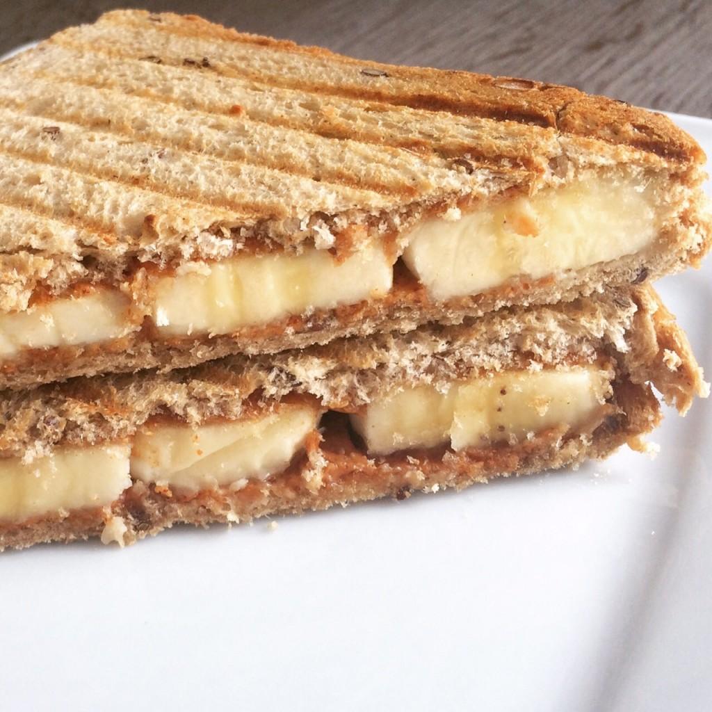 Pindakaas Banaan Toast